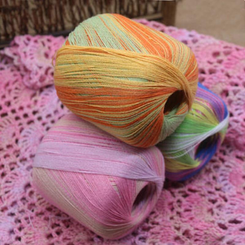 Нитки для вязания трехцветные 7