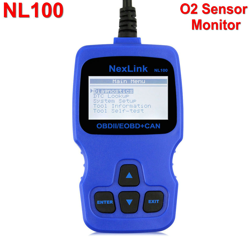 Newest Nexlink NL100 OBD/EOBD+CAN Diagnostic Scanner with O2 Monitor Test With Russian Dutch Scan Tools OBD 2 OBDII Code Reader(China (Mainland))