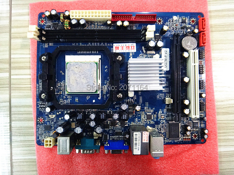 Free shipping for Unika UG7M-P V2 fully integrated AM2 motherboard supports DDR2 memory AM2 dual-core CPU(China (Mainland))