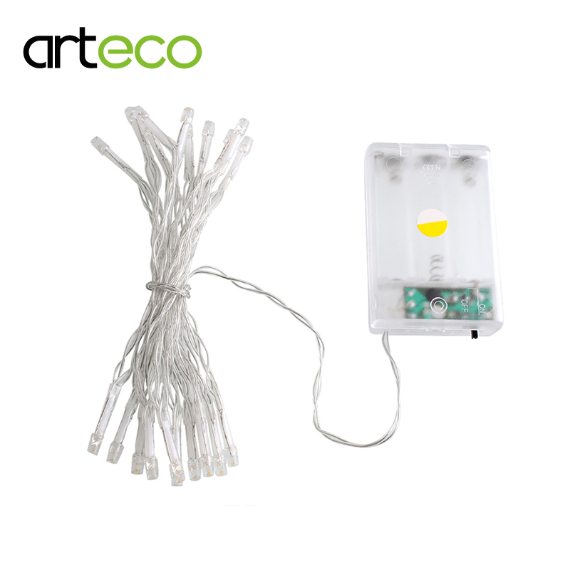 Battery operated 2m 20LEDs LED string colorful LED Fairy string light decorating party garden Christmas Holiday etc.(China (Mainland))