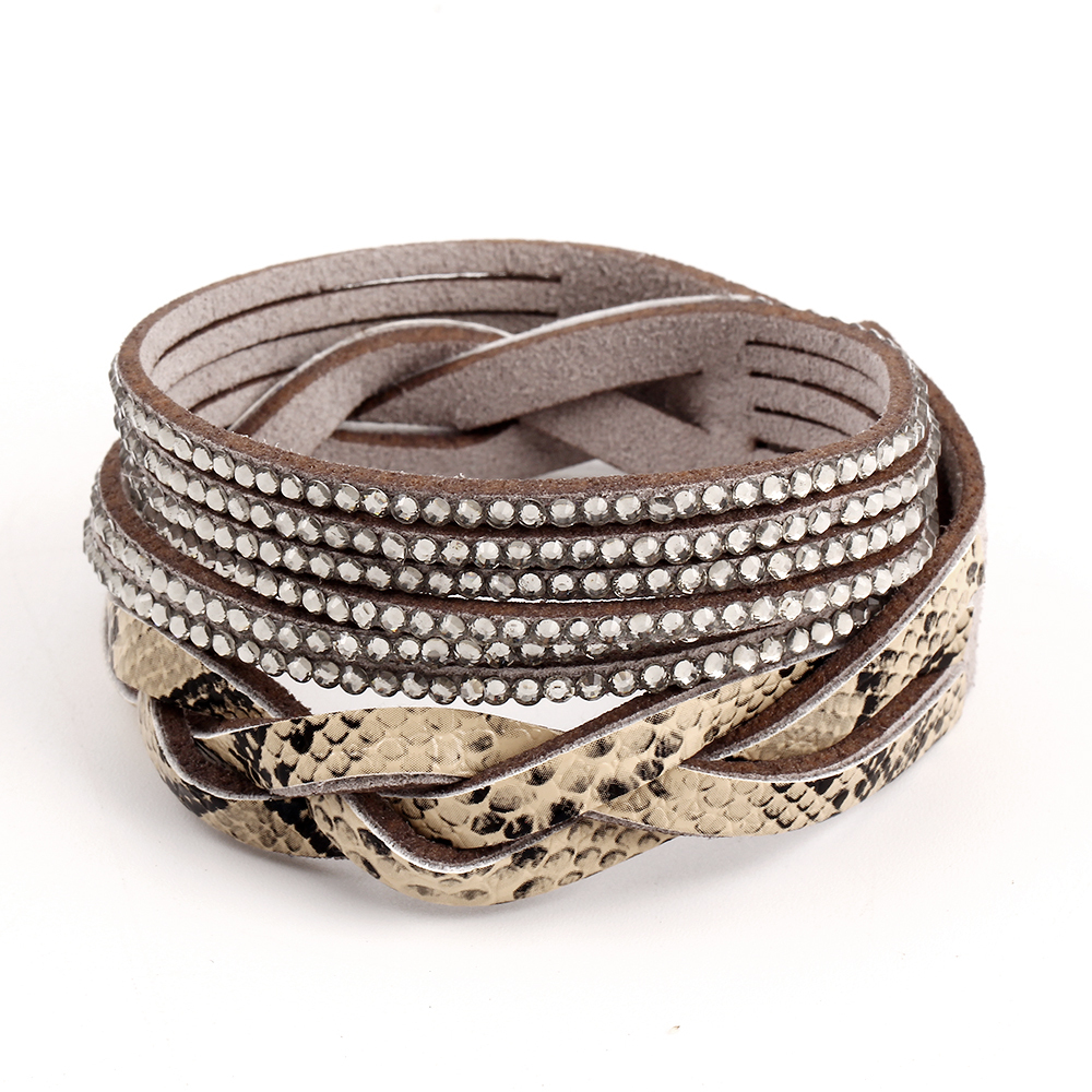 New Arrival Hot Selling 6 Color Vintage Faux Leather Bracelet Summer Style Snake Skin Bracelets Trendy Women Jewelry CS16(China (Mainland))
