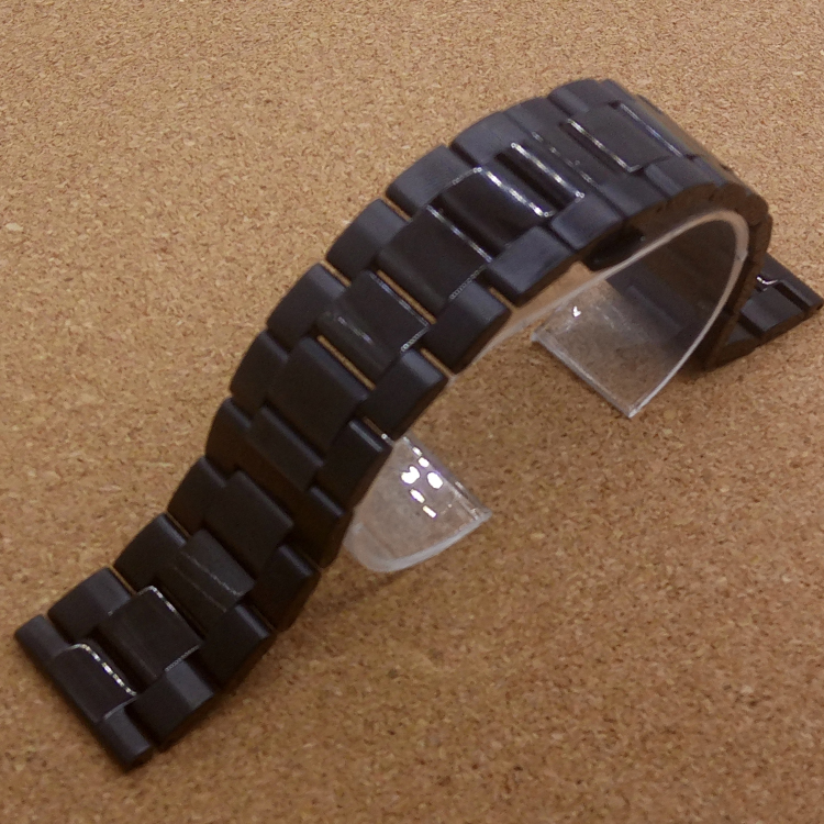 Black Stainless Steel Watch Band Strap Mens Straps Metal watch Bracelet 18mm 20mm 22mm men's watchbands fit gear s2 s3 fashion - New Store of Chinese Accessories store