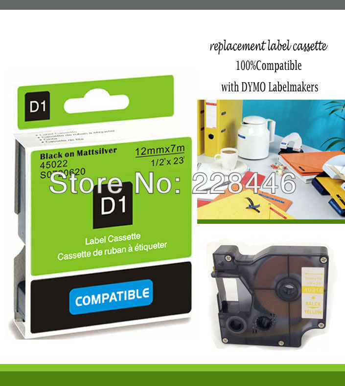 compatible DYMO label tapes D1 tape cartridge 45022 S0720620 - CIDY TAPE SHOP store