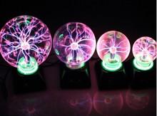 "Magical Plasma Ball Sphere Lightning Light Lamp Party magical ball electrostatic falshing ball dia4"" 5"" 6"" 8"" Sphere Decoration(China (Mainland))"