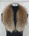 75cm 110cm Real Raccoon Fur Collar For Women Men Jacket Fashion Warm Scarf S1288SJ