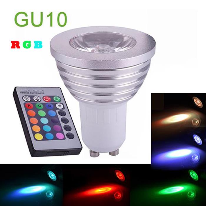 AC85-265V Bombillas Lampadas de Casa Ampolleta Lampara Ampoule Lampadine luz levou Lampen 3W RGB GU10LED Spot Light Bulb Lamp(China (Mainland))