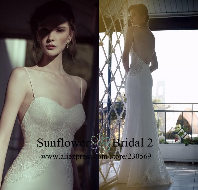 vestido de noiva praia wedding gown Simple lace wedding dress sweetheart ivory bridal gown Floor Length Open back wedding gown(China (Mainland))