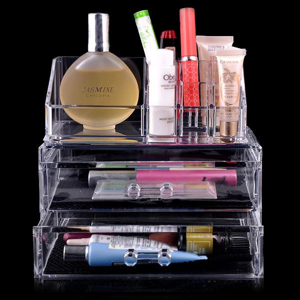 Clear Acrylic Makeup Organizer Transparent
