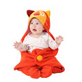 6 Animal Styles Multifunctional Newborn Blanket 100 Cotton Baby Sleeping Bag Outdoor Infant Swaddle Wrap Bear