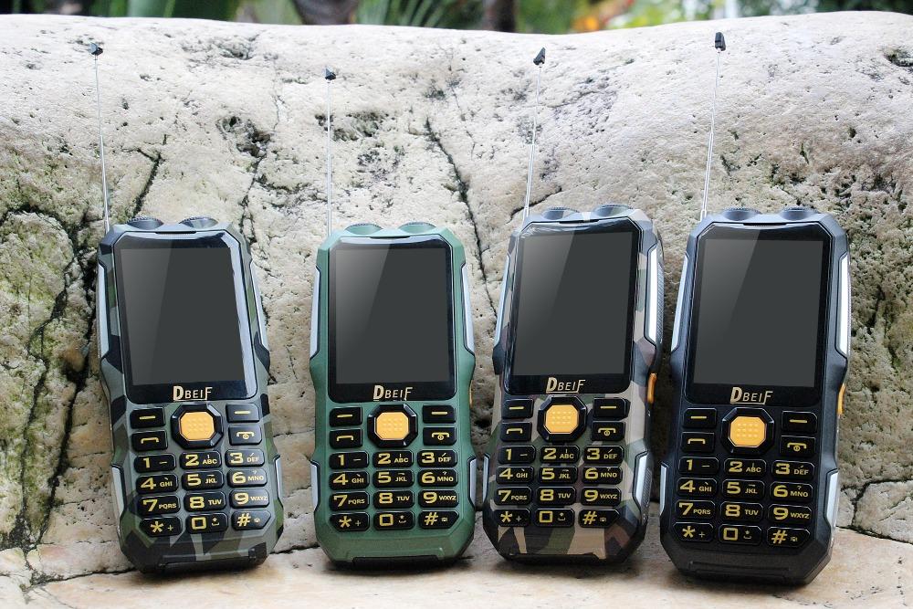 DBEIF D2016 Dual flashlight FM magic voice change 13800mAh mp3/mp4 power bank antenna Analog TV Rugged mobile phone cell phone(China (Mainland))