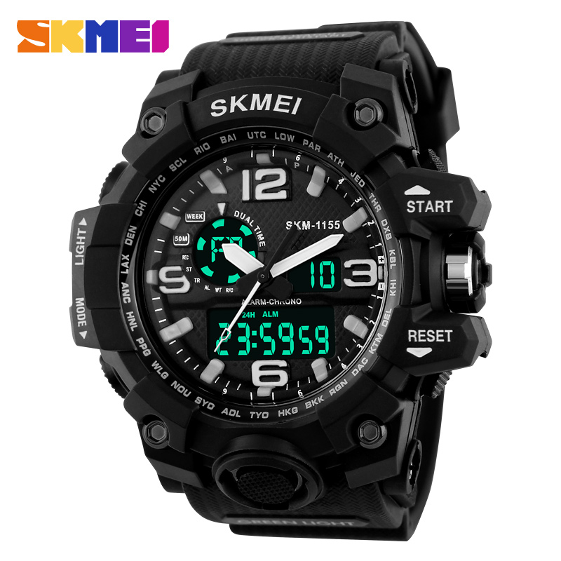 Fashion Sport Super Cool Men's Quartz Digital Watch Men Sports Watches SKMEI Luxury Brand LED Military Waterproof Wristwatches(China (Mainland))
