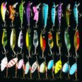 Free shipping 30pcs lot Mixed Colo Fishing Lure Set Fishing Tackle Spoon Spinner Hard Lure Artifical