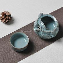 Ice Veins * Longquan Kiln Celadon Handmade Ware Teapot & Teacup Gongfu Tea Set