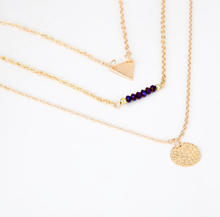 3 Layers Gold Triangle Sequins Crystal Necklace Women Jewelry Layered Necklace Woman Gold Necklace correntes de