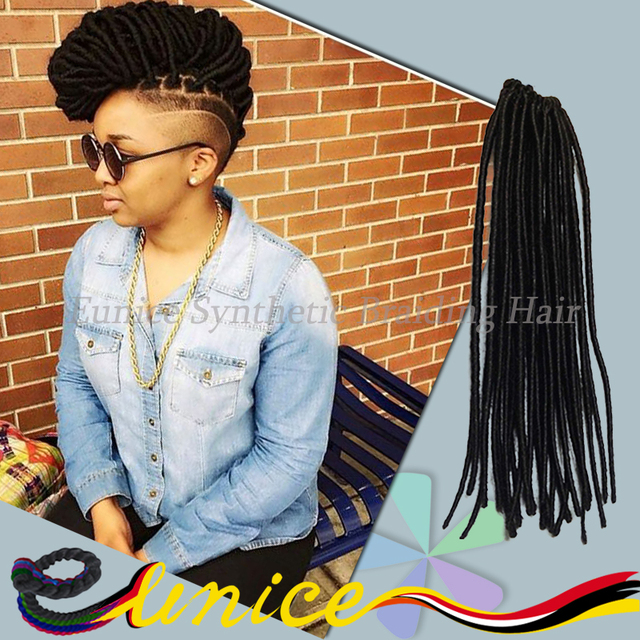 Curly Crochet Hair Synthetic Dread Locs Faux Locs Crochet Braid Hair ...
