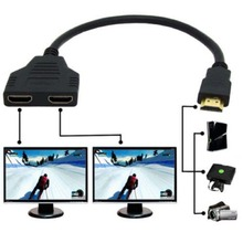 30CM V1.4 1080P HDMI Male to 2 Female Port 1X2 1 In 2 Out Splitter Cable Switch Adapter Converter for HDTV Tablet XBOX(China (Mainland))