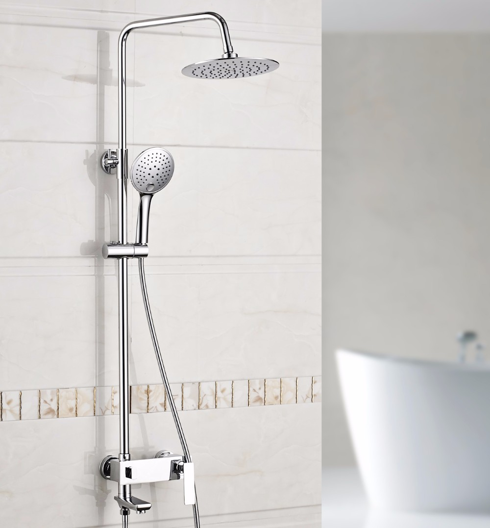 2019 Xogolo Luxury Shower System Rainfall Shower Head Wall Mounted Coming With Two Function Handshower Traditional Faucet 18031a From Hymen