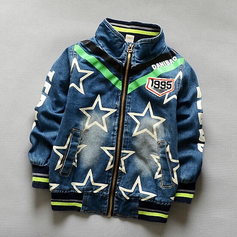 2015 New High quality boys Clothing children jackets baby boys jacket Fashion cowboy Long Sleeve Denim Outerwear(China (Mainland))