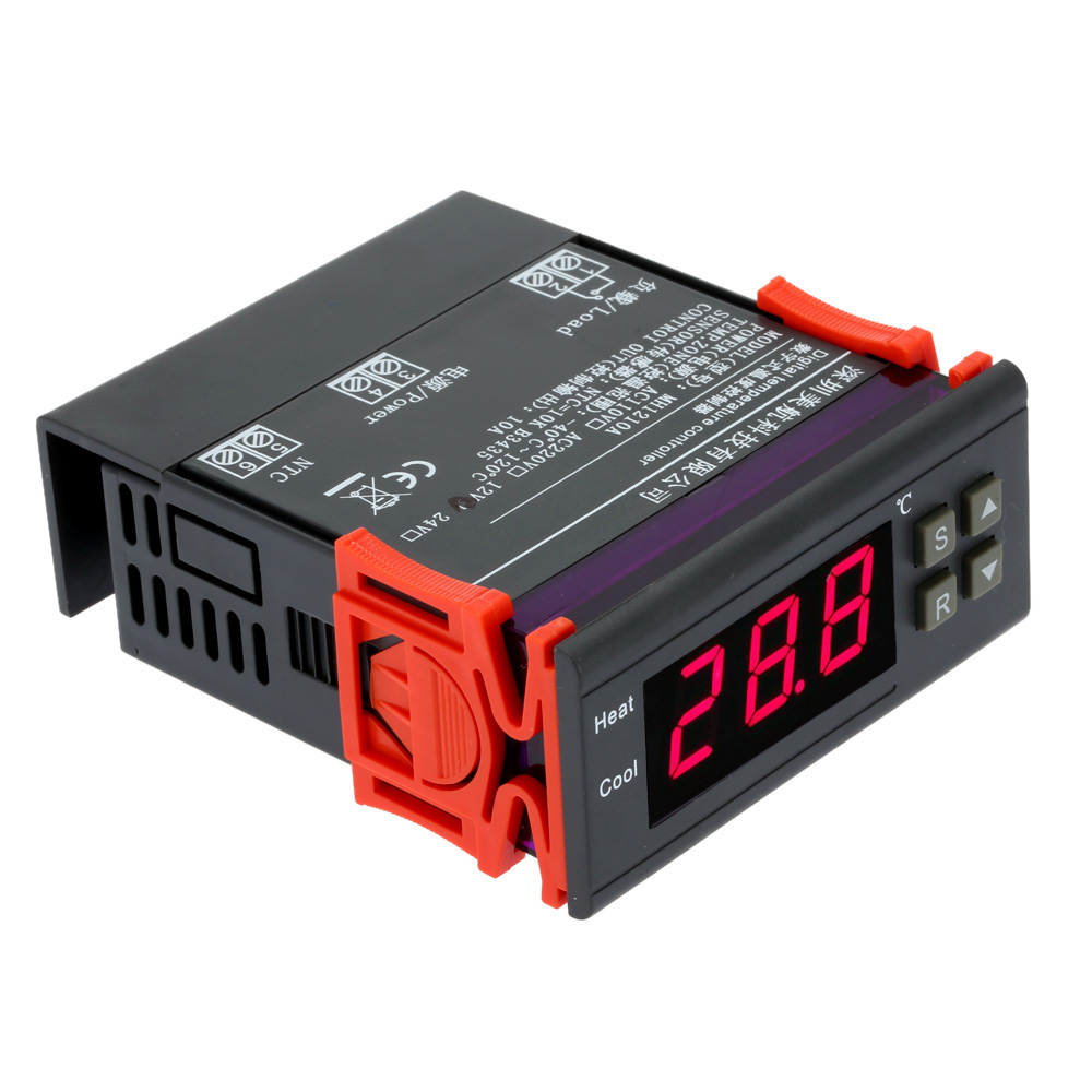 10A 12V Digital Temperature Controller Thermocouple thermal regulator -40 Cto 120 C thermostat with Sensor temperature gauge(China (Mainland))