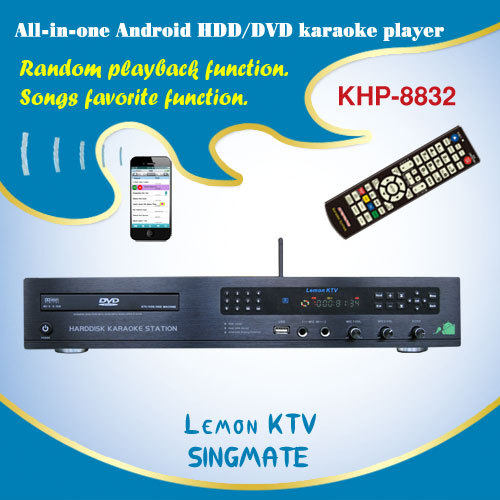 8832(#2) Fashionable high quality and factory wholesale Android KTV karaoke player with HDMI 1080P,2 microphone mixer(China (Mainland))