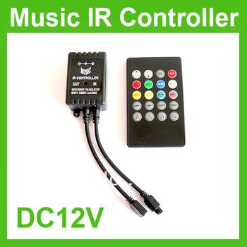 Music IR 20key Remote Sound Sensor Controller For 3528 5050 RGB LED Strip