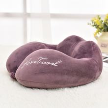 Inflatable Travel Pillow U Shaped Inflatable Neck Cervical Head Pillow Soft Compact Lightweight Travel Air Pillows dropshipping(China)