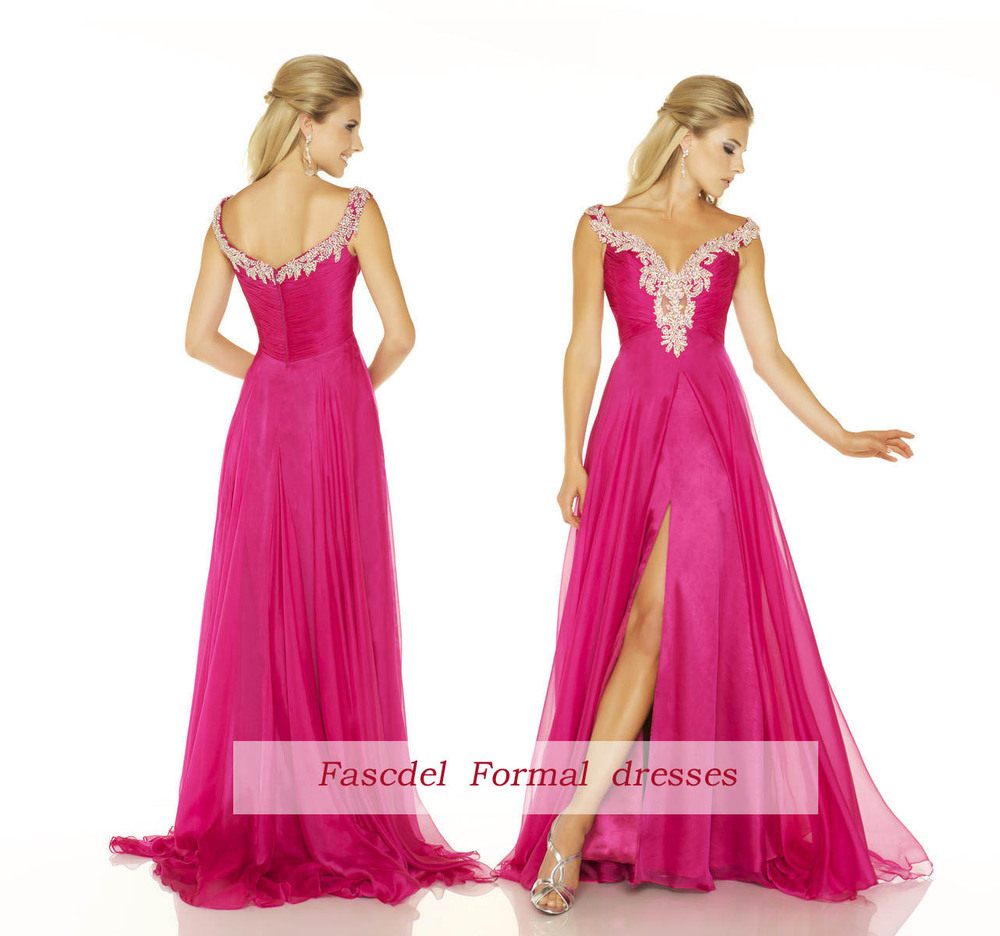 dress 2013 New Formal Prom Evening Party Pageant peach red maxi dresses long Bridal gowns Graduation Dresses - MARGENE'S BRIDAL store