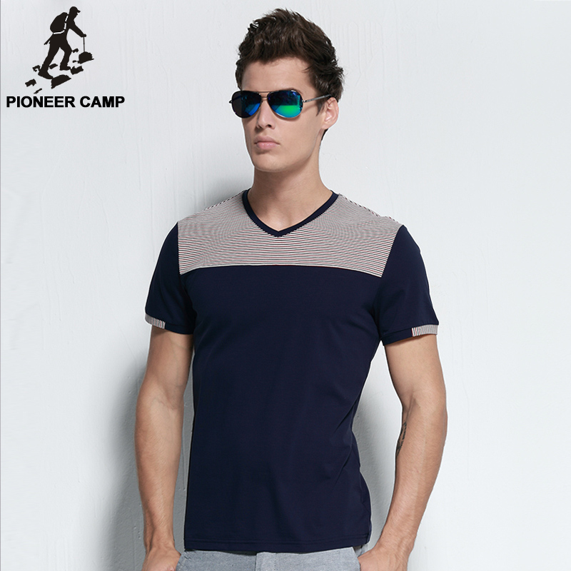 Pioneer camp free shipping 2016 new fashion men t shirt for Mens t shirts free shipping