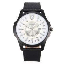 2015 el último estilo Curren ronda marca Dial analógico de cuarzo relojes hombres PU correa de cuero de datos visualizar deportivo reloj de hombre