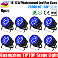Cheap Price 8 Pack Alibaba Alixpress Led Stage Light Par Can Light 18x12w RGBW 4in1 Zoom