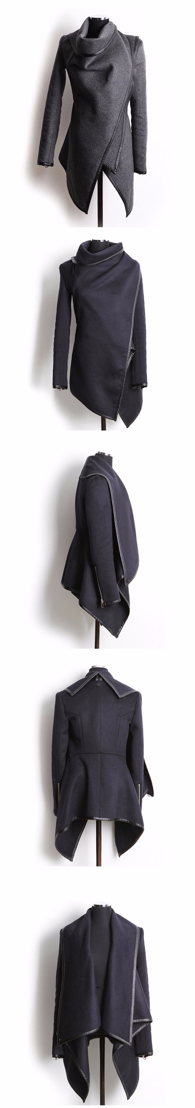 2015 New Fashion Winter Woolen Overcoat Women Jackets Woolen Coat Free Shipping Casaco FemininoTurn-Down Collar Zipper Jacket