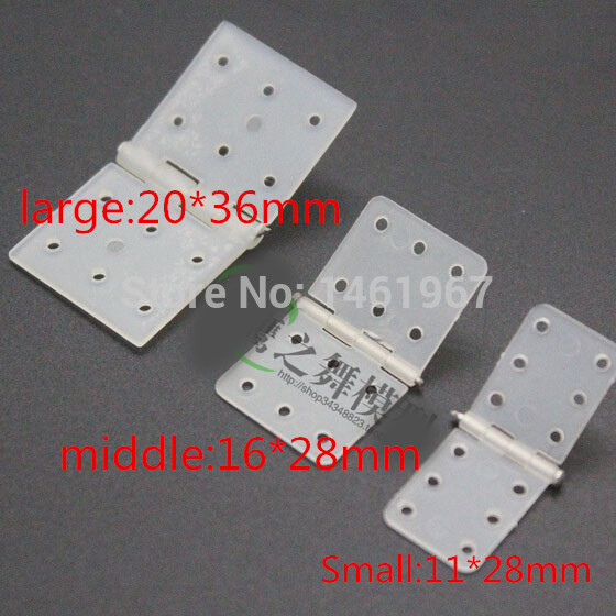20pcs/lot Plastic Hinge Flat Needle Binder For RC Model Remote Control Aircraft KT Fixed-wing Plane Aileron Hinge Connection DIY(China (Mainland))