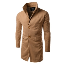 New Arrival Men Winter Trench Turn Down Collar manteau homme long trench coat men High Quality mens overcoat (China (Mainland))