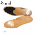 Soumit Full Length Leather Orthopedic Insole with Arch Supports Arch Pads Flat Feet Insoles Footbeds for