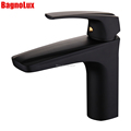Newly Arrival Painted Finish Matt Black WELS Basin Faucets Hot Cold Mixer Bathroom Basin Tap Brass