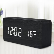 Registered Mail New LED Alarm Clock with Old style Temperature Sounds Control LED display electronic desktop Digital table Clock(China (Mainland))