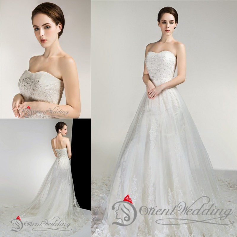 Sparkly Custom Made Plus Size Strapless Country Style Western Lace Up A Line Wedding Dresses