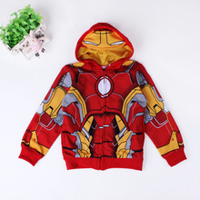 3 10yrs Boy s Sweatshirt Captain America Avengers Iron Man The Hulk Children Hoodies Coat Kids