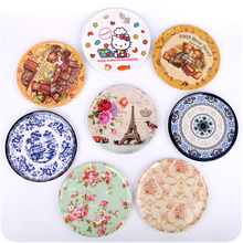 4pcs Colorful Round Non Slip Heat Resistant Mat Coaster Cushion Placemat Pot Cup Drinks Holder Table