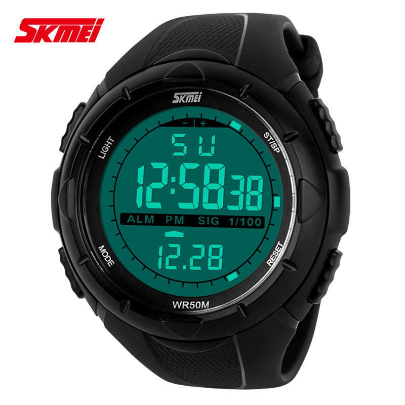 Skmei 1025 Brand Men Sport Digital Watches S Shock Waterproof PU Strap Mens LED Army Military Watch Relojes Hombres Deportivos(China (Mainland))
