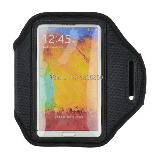 """1pcs/lot Free Shipping,Hot 5.7"""" Workout Sport ArmBand Case Cover For Samsung Galaxy Note 3 Note 4 Arm Band Case"""