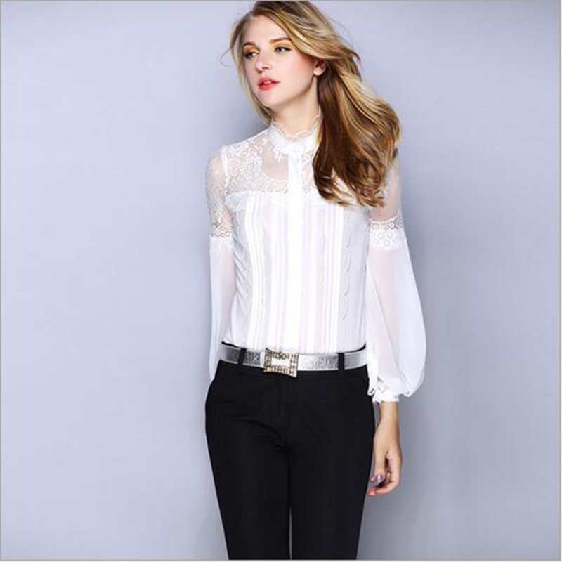 Womens White Satin Blouse 102