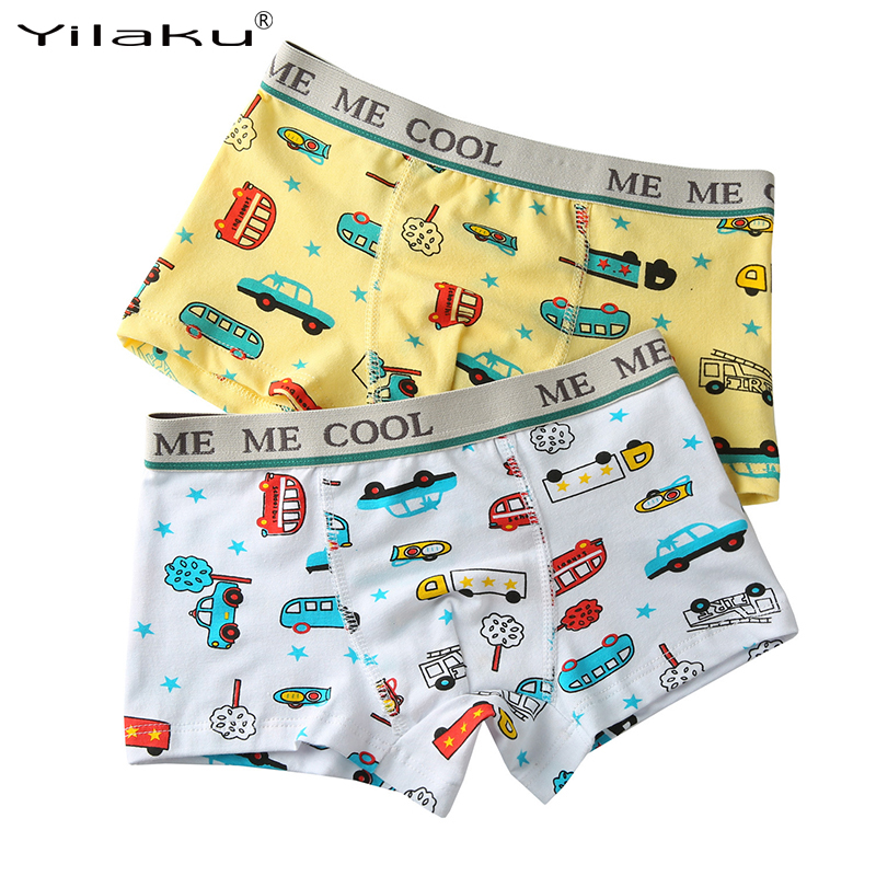 2pcs/lot Children Underwear Boys Cartoon Panties Kids Shorts Pants for Boy Briefs Child's Underpants 2~12 Years CM002(China (Mainland))