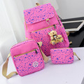 2016 Women Backpack With Bear School Bags For Teenagers Girls Daily Backpacks Star Printing Bookbag Cute