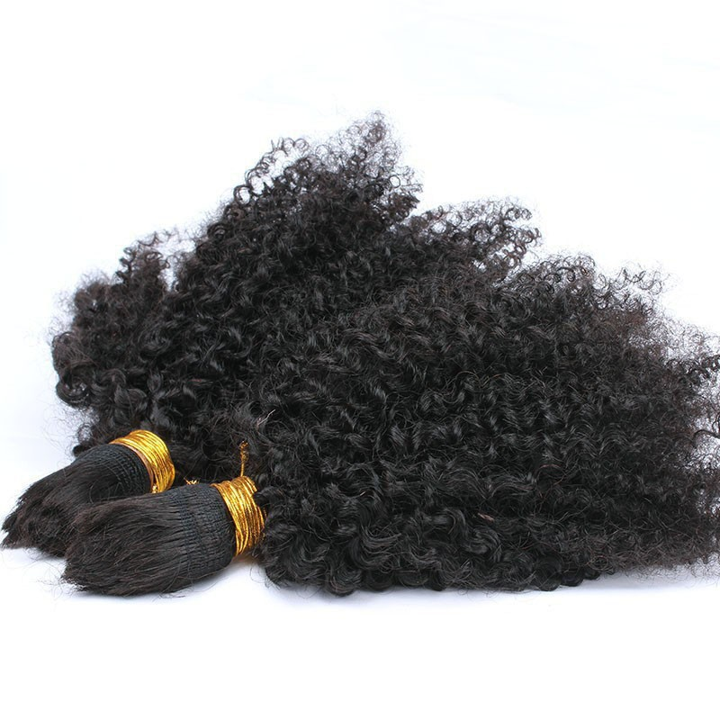 10A Malaysian Kinky Curly Virgin Hair Human Braiding Hair Bulk 1 Bundles No Weft Afro Kinky Curly Weave Free Shipping