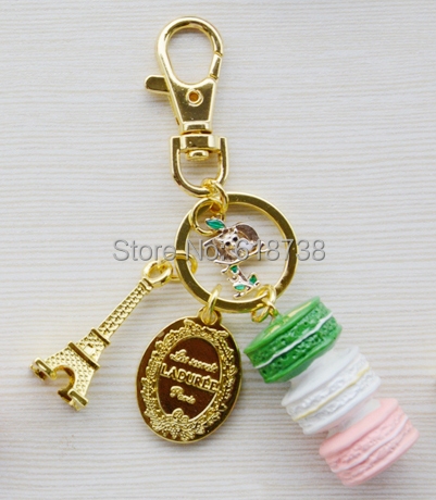 2015 New Macaroon keychain with P letters.jpg