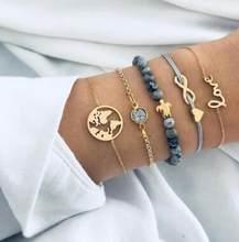 בוהמי צב סגולה צמידי צמידים לנשים אופנה זהב כסף צבע גדיל צמידי סטי תכשיטי מפלגה מתנות(China)