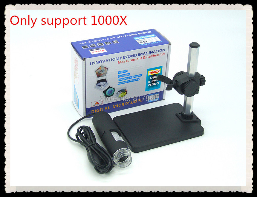2015 1000X HD USB Digital camera Microscope 8 LED 2 MP Endoscope Magnifier Camera+Lifting Holder support win8 - Programmer House store