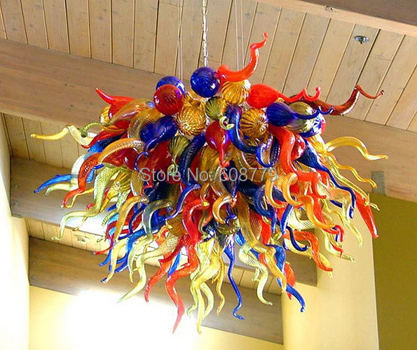 Special Design Murano Art Lighting Multi Colored Glass Chandelier(China (Mainland))