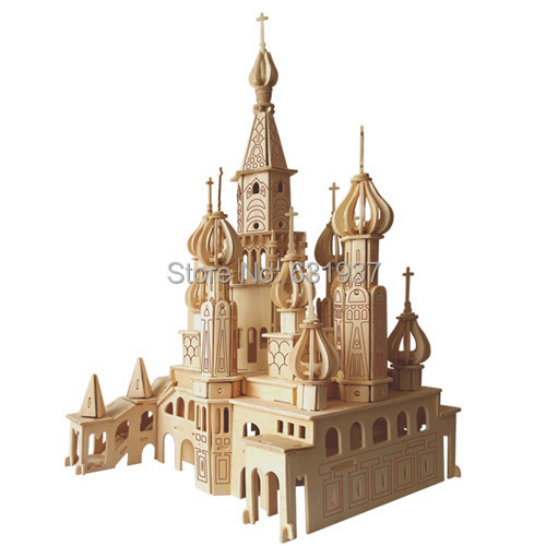 St . Petersburg 3D Puzzle  Model Building Kits Wooden Doll House Miniature Dollhouse Accessories For Children Toys Gift Free<br><br>Aliexpress